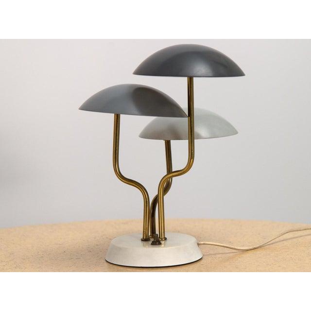 Contemporary Mid-Century Modern Three Shade Lamp by Gino Sarfatti For Sale - Image 3 of 8
