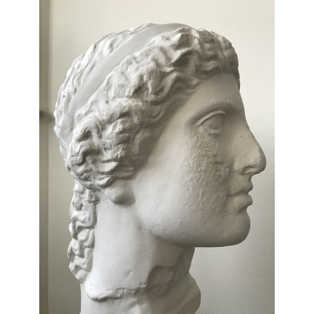 Late 20th Century Vintage Plaster Female Bust For Sale - Image 5 of 11