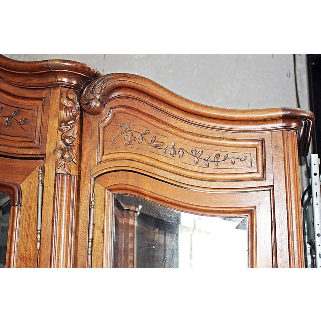 19th Century French Provincial 3-Door Armoire For Sale In West Palm - Image 6 of 11