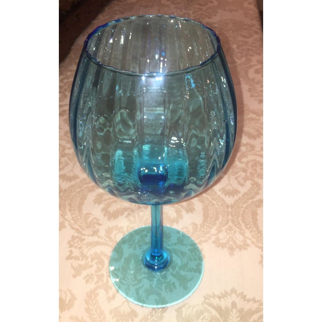 Turquoise Glass Candle Holder - Image 6 of 7