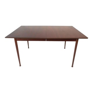 Mid-Century Modern Walnut Dining Table with Rosewood Accents