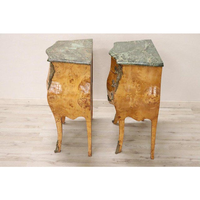 20th Century Italian Venetian Louis XV Style in Wood Burl - a Pair For Sale - Image 9 of 13