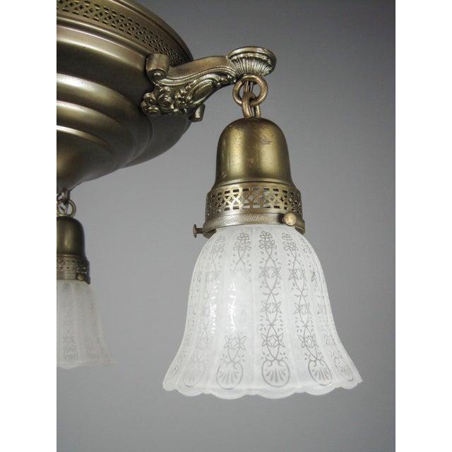 Original Pan Light Fixture (3-Light) For Sale - Image 4 of 8