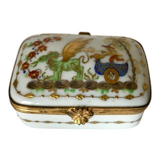 Tiffany & Co Handpainted Limoges Box For Sale