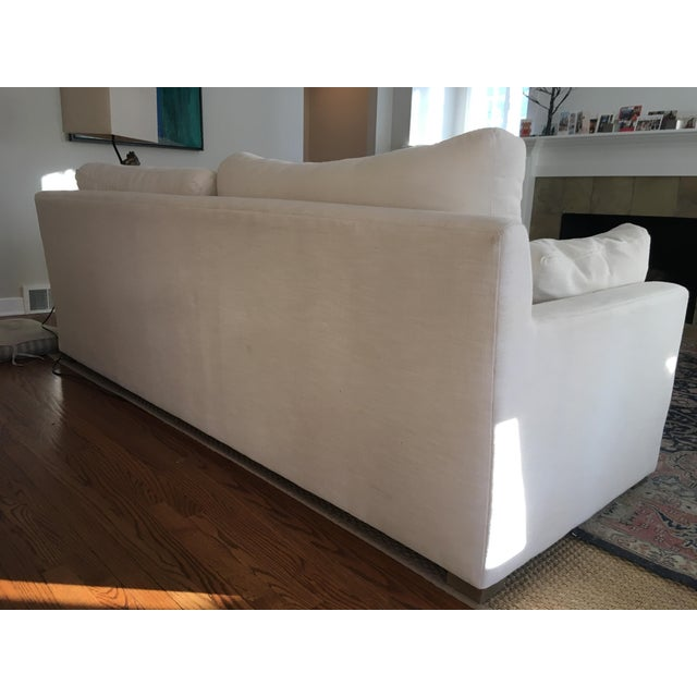Mid-Century Modern Restoration Hardware Belgian Track Arm Sofa For Sale - Image 3 of 7