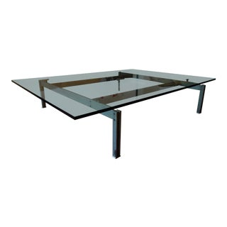 1970s Vintage Giovanni Offredi Onda Glass Coffee Table For Sale