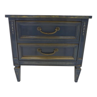 Blue Vintage French Style Nightstand