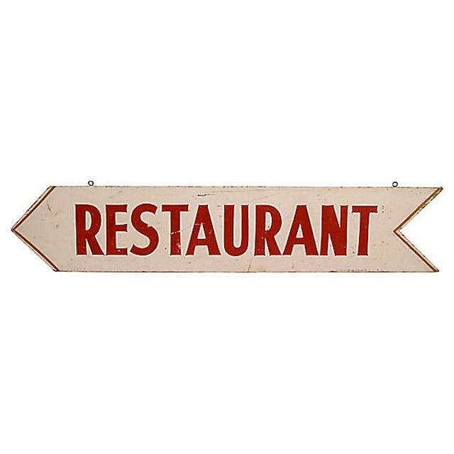 Vintage Restaurant Sign - Image 2 of 2