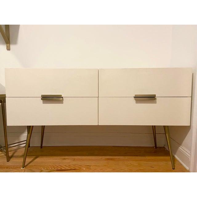 Mid-Century Modern West Elm 4 Drawer Dresser For Sale - Image 3 of 3