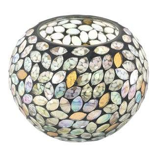 Anaya Petal Mosaic Glass Candle Votive + Vase, Large For Sale