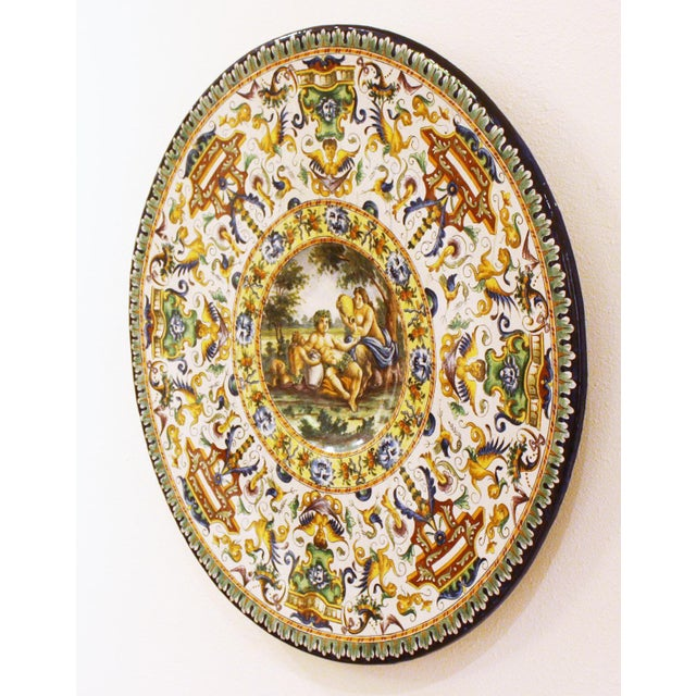 Italian Renaissance-Style Majolica Chargers With Images After Annibale Carracci (1560-1609) - Image 3 of 13