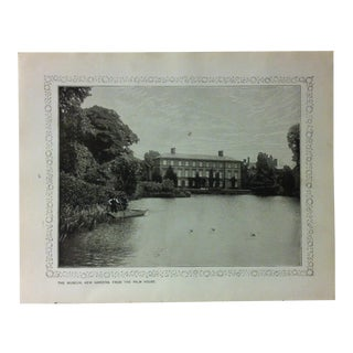 """1906 """"The Museum - Kew Gardens - From the Palm House"""" Famous View of London Print For Sale"""