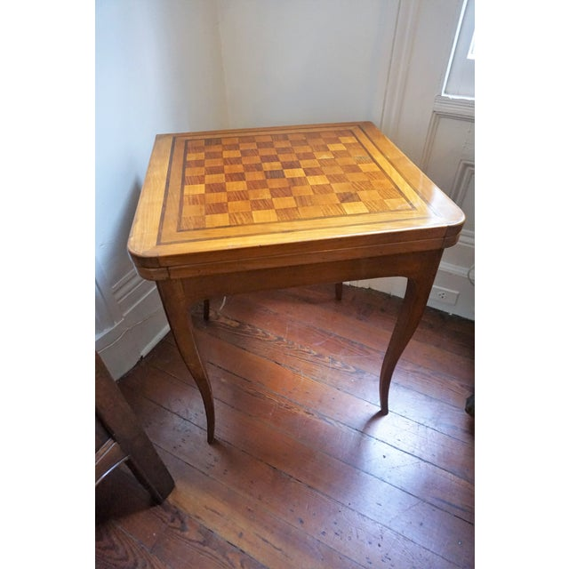 Brown 19th Century French Walnut Game Table For Sale - Image 8 of 9