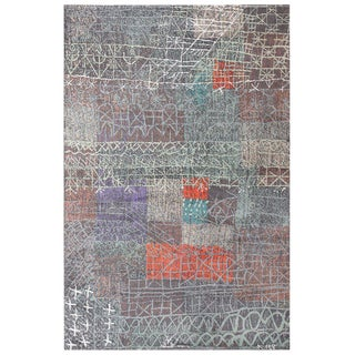 Vintage Paul Klee Scandinavian Carpet - 6′ × 9′2″ For Sale