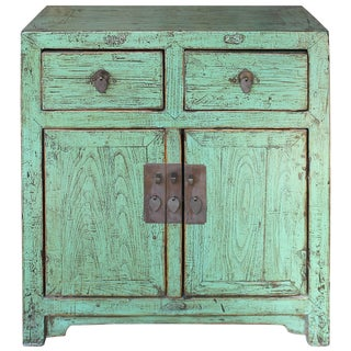 1920s Chinese Green Beijing Chest For Sale