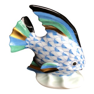 Herend Fish Table Ornament Figurine For Sale