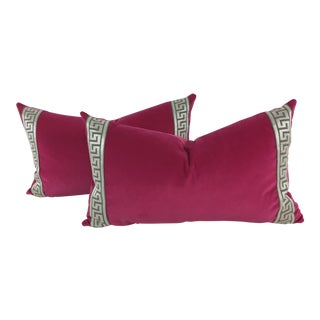 Schumacher Hot Pink Pillows - a Pair