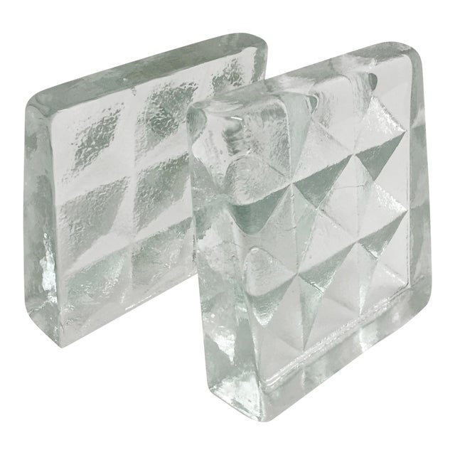 Blenko Glass Bookends- Pair - Image 1 of 5