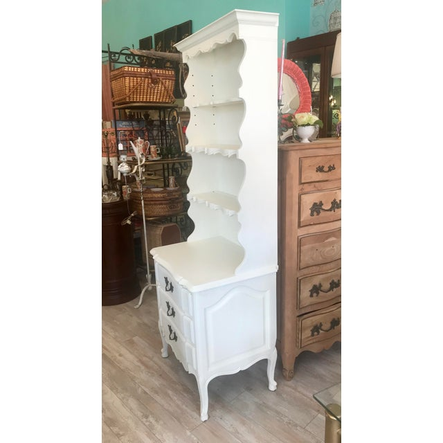 1950s Vintage French Provincial Bookcase