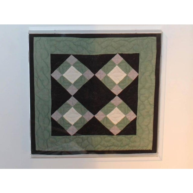 Collection of Four Rare Pennsylvania Amish Doll Quilts For Sale - Image 4 of 8