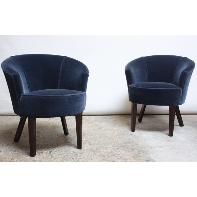 Pair of English George Smith 'Petworth' Tub Chairs in Mohair - Image 6 of 11