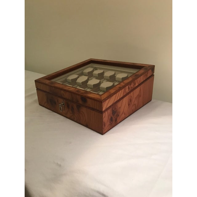 Agresti Briar Wood Watch Case For Sale - Image 4 of 9