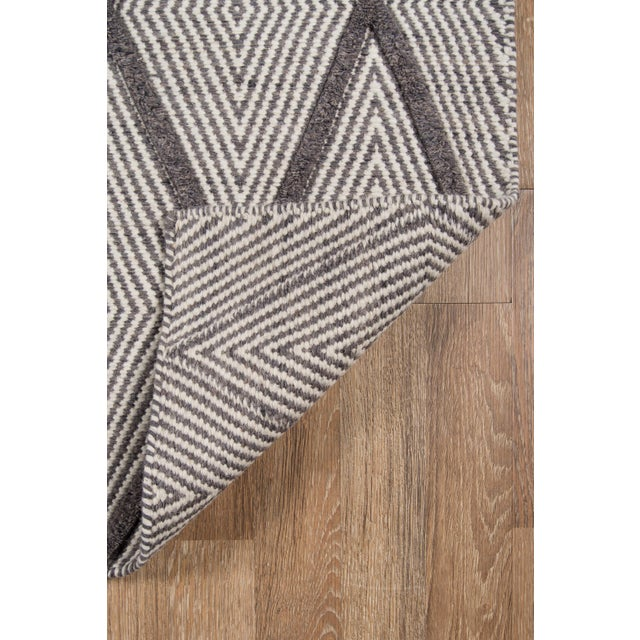 "Erin Gates by Momeni Langdon Spring Charcoal Hand Woven Wool Area Rug - 90"" x 114"" For Sale - Image 5 of 7"