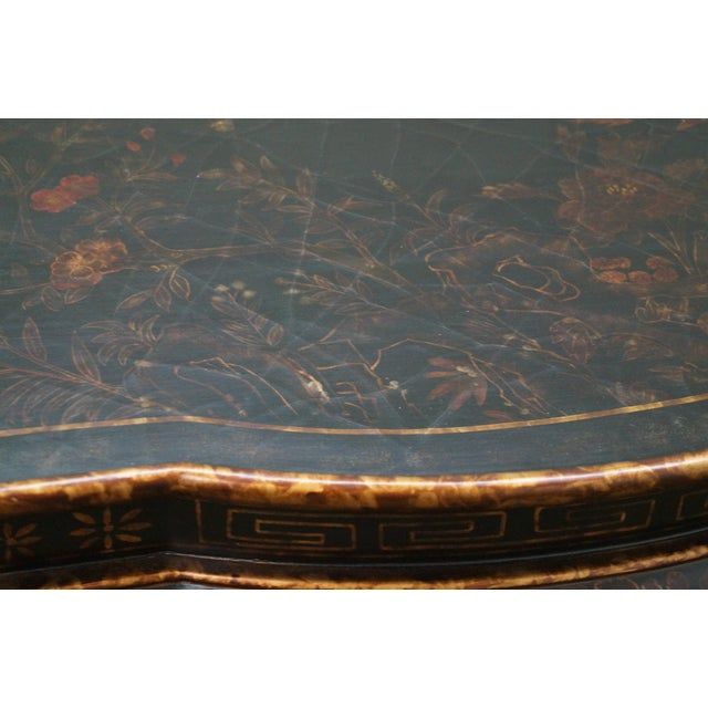 Maitland-Smith Chinoiserie Decorated Coffee Table - Image 6 of 10