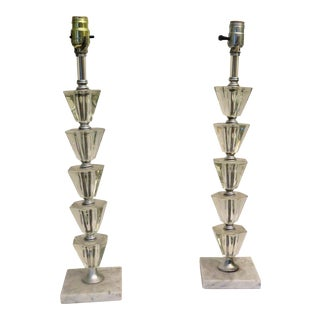 Stacked Plexi Lamps - A Pair
