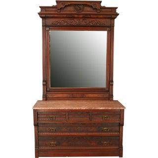 Antique Eastlake Vanity Dressing Table 1890 For Sale
