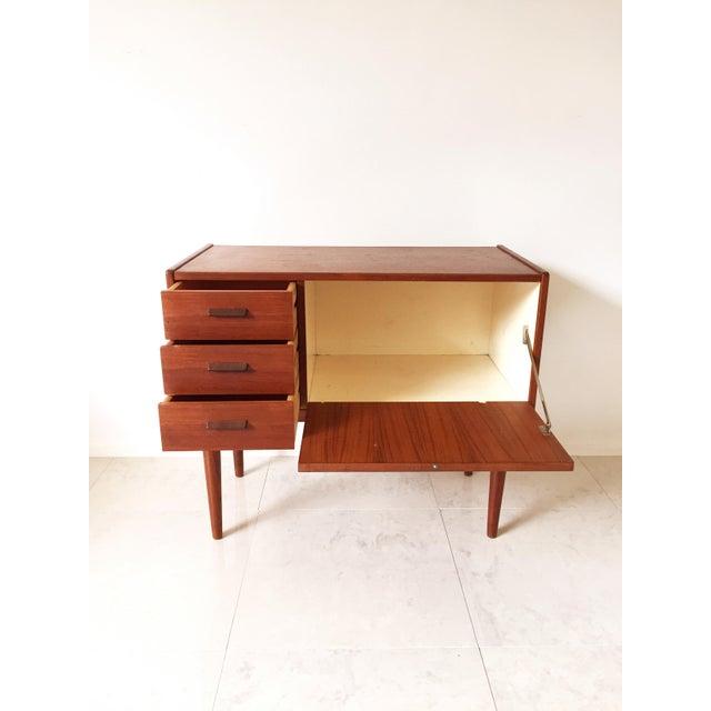 Vintage Danish Modern Teak Mini Chest Cabinet - Image 6 of 7