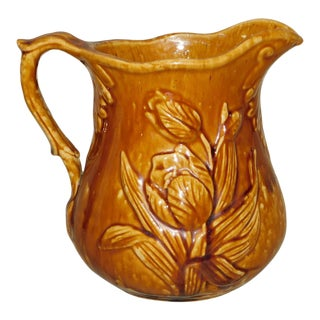 Antique Rockinghamware Pitcher For Sale