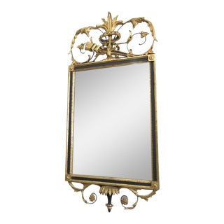Neoclassical Italian Gold Leaf Mirror w/ Wood Frame For Sale