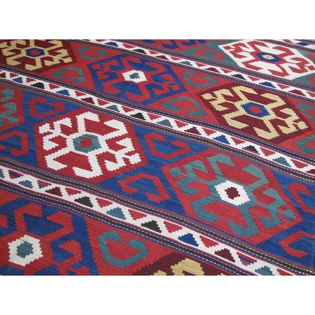 """Primary Colors,"" Antique Kazak Kilim For Sale - Image 4 of 10"
