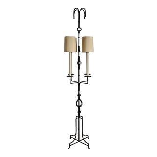 Tommi Parzinger Wrought Iron Floor Lamp for Parzinger Originals, Circa 1952 For Sale