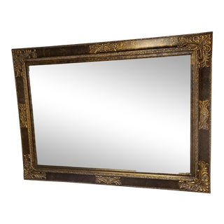 Large Ornate Beveled Mirror For Sale