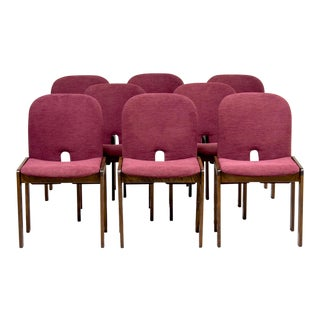 Model 121 Chairs in Walnut by Afra and Tobia Scarpa for Cassina - Set of 8 For Sale