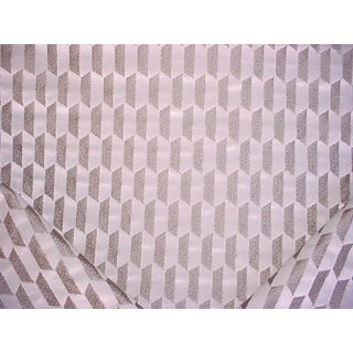 Contemporary Romo Incanti Grey Mist Metallic Gold Pearl Velvet Upholstery Fabric - 2-1/4y For Sale