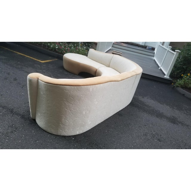 Mid-Century Modern Serpentine Sectional Sofa by Vladimir Kagan for Weiman For Sale - Image 3 of 10