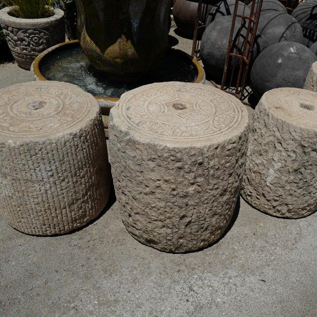 Old Granite Field Roller For Sale - Image 4 of 5