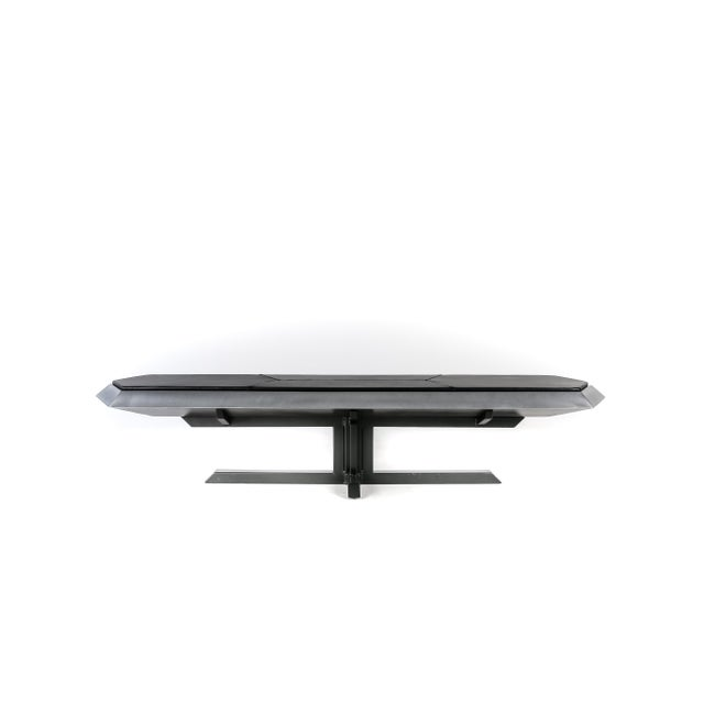 Bench No. 10 is a one-of-a-kind steel bench inspire by equal parts Brutalist architecture and jewelry settings. The bench...