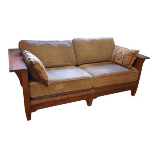 Flexsteel Mission / Arts and Crafts Style Oak Sofa For Sale