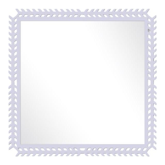 Fleur Home x Chairish Toulouse Trellis Mirror in Spring Iris, 24x24 For Sale