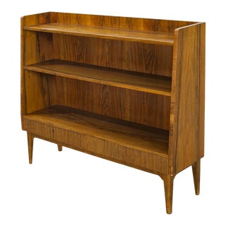 1940s Swedish Modern Narrow Bookcase in Rosewood For Sale