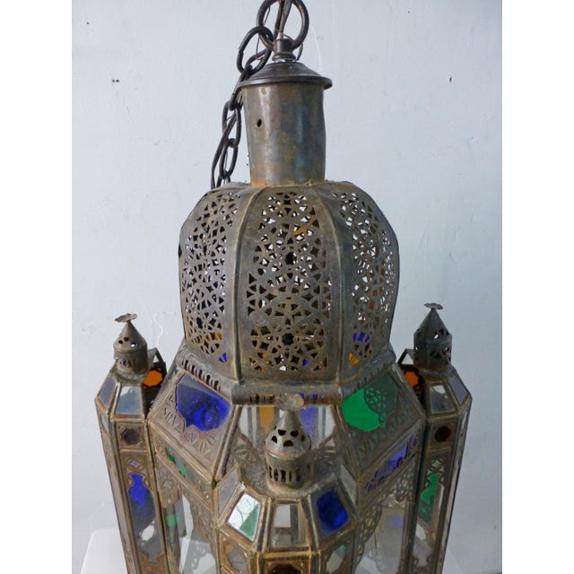 Blue Vintage 1960s Moroccan Moorish Statement Chandelier For Sale - Image 8 of 10