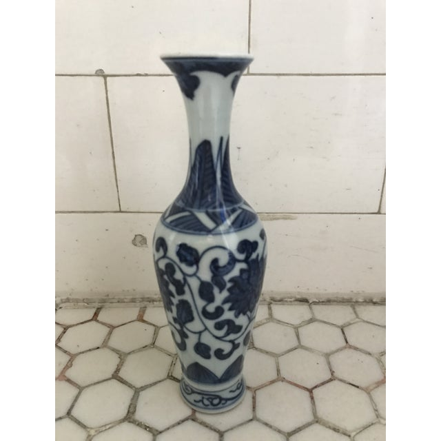 Blue & White Porcelain Vases - Set of 3 For Sale - Image 4 of 9