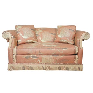 Custom Bird Print Drexel Heritage Loveseat For Sale