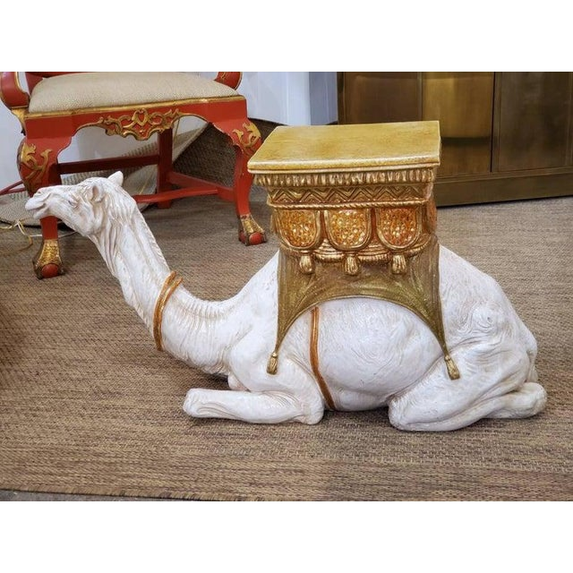 Large Ceramic Camel Plant Stand For Sale In Dallas - Image 6 of 12