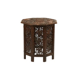 Anglo Indian Carved Teakwood Table