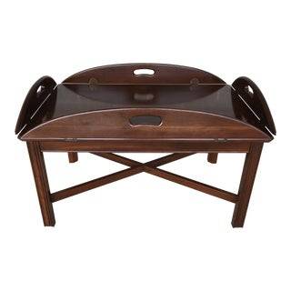 Vintage Mid-Century Ethan Allen Georgian Court Chippendale Style Table For Sale